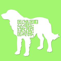 QR Code dog template for vets