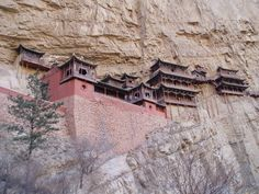 Hanging Monastery on Mount Hengshan in China.