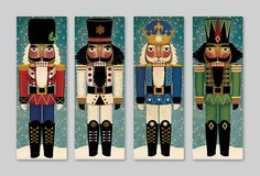 NUTCRACKER Stretched Canvas Wall Art Ready-To-Hang stretched 10x30x1.5 Inches Signed by nativevermont on Etsy https://www.etsy.com/listing/210515571/nutcracker-stretched-canvas-wall-art