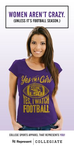 Visit us at represent.com/college Our mission is to design unique apparel that you'll love as much as you love your school. Each shirt we print is handcrafted to fit comfortably, feel soft on your skin, and withstand even the most extreme tailgating. We believe t-shirts should celebrate the individual!