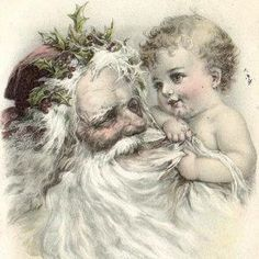 Wishing you an Old Fashion Christmas.  From an antique French postcard dated 1904 that I own.