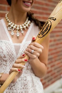 Great ring shot! See more from this vintage baseball wedding inspiration collection by @capecodphotos at Fenway Park! | The Pink Bride www.thepinkbride.com