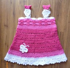 Girl dress. Crochet baby girl dress. Cute bay by HeartMadeByMarina