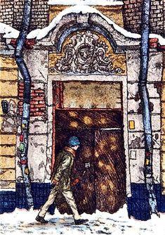Гусятников переулок. Прогулка по Москве. Картины Алены Дергилевой