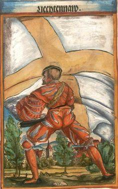 """(Lichtenau?) [Liechtennaw] (f°92) -- Koebel, Jacob, """"Wapen des heyligen römischen Reichs teutscher Nation"""", Franckfurth am Main, 1545 [BSB Ms. Rar. 2155]"""