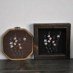 바늘꽃(홍접초) 야생화자수 #야생화자수  #야생화느낌자수  #들꽃자수  #생활자수  #꽃자수  #handmade  #embroidery  #wildflowers