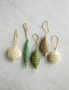 Beads + Sequins for Purl Soho's Heirloom Wool Ornaments Pattern