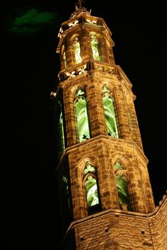 Santa Maria del Mar church in Barcelona; stroll by at night to take in the beautiful exterior tower lit up at night