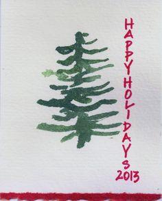 happy holidays! one card idea
