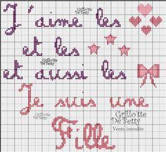 Bébé - baby - fille - point de croix - cross stitch - Blog : http://broderiemimie44.canalblog.com/