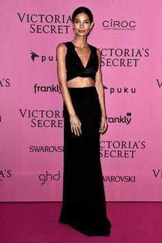 Lily Aldridge - Victoria's Secret Fashion Show 2014 red carpet pictures | Harper's Bazaar