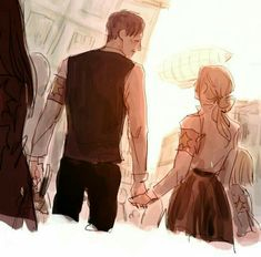 Annie & Berthold if they got the chance to grow old. Armin Snk, Eren, Anime Fnaf, Manga Anime, Anime Art, Attack On Titan Ships, Attack On Titan Anime, Snk Annie, Maou Sama