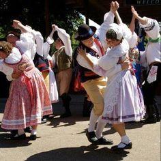 Folk dancers during Czech/Slovak festivities in Minnesota.