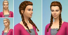 Sims 4 CC's - The Best: Vroni's Braided Pigtails Hair for Females by Birks...