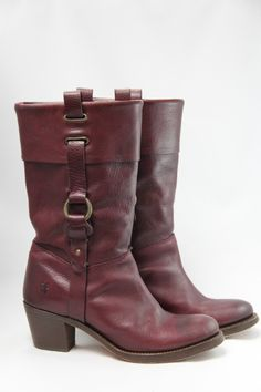 Frye oxblood boots @The Frye Company #FryeBoots #oxbloodleather #consignment #UrbanityStyle