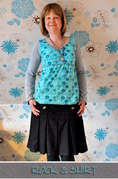Jeansrock und Shirt oder Kleid by #Allerlieblichst