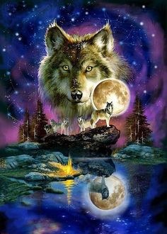 If you're a fan of Wolves you'll love our great selection of Wolf Jigsaw Puzzles! You'll find 1500 piece wolf jigsaw puzzles as well a lots of . Artwork Lobo, Wolf Artwork, Wolf Love, Beautiful Wolves, Animals Beautiful, Beautiful Eyes, Tier Wolf, Native American Wolf, American Indians