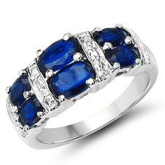 Malaika 2.48 Carat Genuine Kyanite .925 Sterling Silver Ring