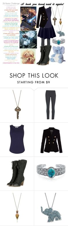 """""""Keeper of the Lost Cities"""" by charleymalfoy ❤ liked on Polyvore featuring The Giving Keys, adidas, LE3NO, L.K.Bennett, Balmain, Bling Jewelry and Artistique"""