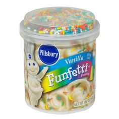 Pillsbury, Vanilla Funfetti Frosting, Tub (Pack of by Pillsbury -- Awesome products selected by Anna Churchill Candy Recipes, Gourmet Recipes, Cheez Doodles, Sweet Sushi, Chocolates, Belgian Waffle Maker, Candy Drinks, Cupcake Icing, Mixed Fruit