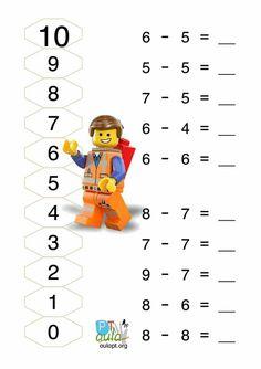 1st Grade Math, First Grade, Grade 1, Subtraction Worksheets, Numeracy, 4 Kids, Teaching Kids, Homeschool, Classroom