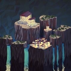 """Woot! I got a very rare print, """"Imperial Archipelago (Night)"""", by JR Schmidt on @NeonMob - Check it out!"""