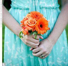 orange roses and gerber daisies :)