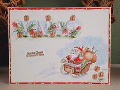 Garden Wagon, Small Alphabets, Tombow Markers, Beautiful Birthday Cards, Art Impressions Stamps, Pumpkin Farm, Flower Cart, Beautiful Farm, Santa Claus Is Coming To Town