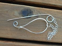 OOAK Handmade Cloud Sterling Silver Wire Shawl by marygunndesigns, $45.00 An excellent gift idea