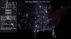Most of the flyover states are still safe after a month: | Scientists Figured Out What Would Really Happen During A Zombie Outbreak