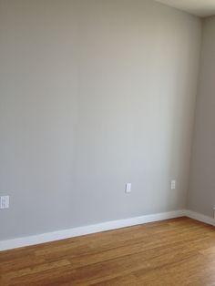 Grey walls and oak floors