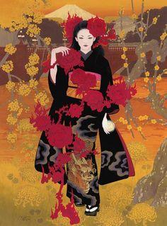 Les sublimes femmes et kimonos de l'artiste japonaise Miki Katoh