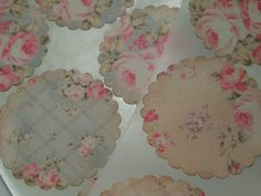 Shabby Chic Cabbage Roses Sticker Seals