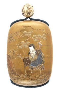 An inlaid gold lacquer four-case inro By Shokasai and Shibayama, late century Japanese Beauty, Japanese Art, Coyote Hunting, Pheasant Hunting, Archery Hunting, Turning Japanese, Tea Caddy, Camping Accessories, Saltwater Fishing