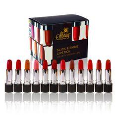 POPULAR!! SHANY Slick & Shine Lipstick Set - Set of 12 Famouse Colors: Beauty