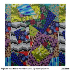 Napkins with Multi-Patterned Collage