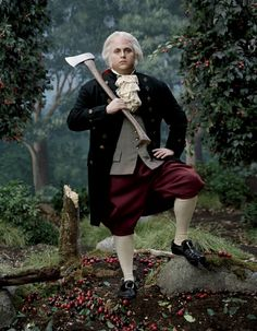 LOL Jonah Hill inspired by George Washington and photographed by Sam Jones. For Vanity Fair,  2009.