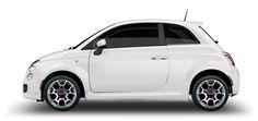 Fiat 500 Lounge | Bianco Perla (Pearl White Tri-Coat)