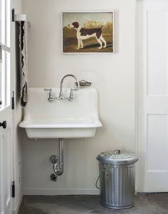 Amanda-Pays-Corbin-Bernsen-laundry-room-refurbished-vintage-sink-Remodelista