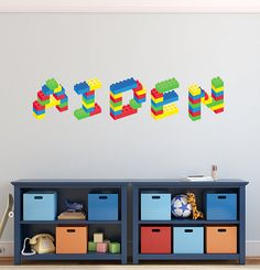 Lego Wall Decal Sticker For Home Decoration | Lego Wall, Wall Decal Sticker  And Wall Decals