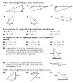 Pythagorean Theorem_Practice Math 8, Math Teacher, Fun Math, Teaching Geometry, Teaching Math, Math Lesson Plans, Math Lessons, Teaching Emotions, Pythagorean Theorem