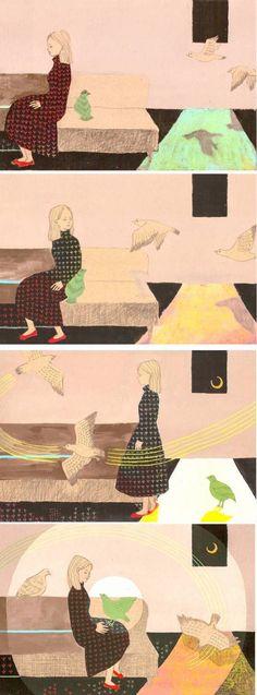 Mixed media works by Mizue Kai, posted on the blog today: http://www.artisticmoods.com/mizue-kai/