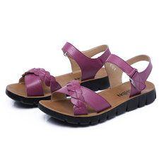 Tamanho us 5-10 mulheres verão plana ocasional outdoor macio e confortável de praia sapatos de couro sandálias planas