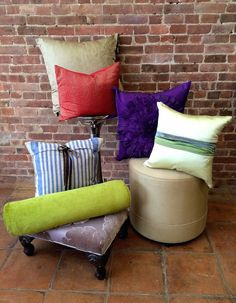 Looking for that extra pop of color for your interior space? Come on into Arlene Angard Designs and choose from a variety of throw pillows in all shapes, sizes and colors during our Spring sale!