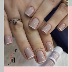 Diy Discover Perfect nails By Tag Besties Comment bellow . Classy Nails, Stylish Nails, Simple Nails, Trendy Nails, Cute Nails, Simple Nail Design, Simple Elegant Nails, Elegant Nail Designs, French Nail Designs