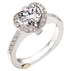 Chad Allison diamond engagement ring.  Unique setting that accentuates the center diamond.  Style number is ME192