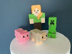 Minecraft Cake, Minecraft Party, Fondant Figures, Making Fondant, Edible Glue, Cake Delivery, Fondant Icing, My Son Birthday, Birthday Photos