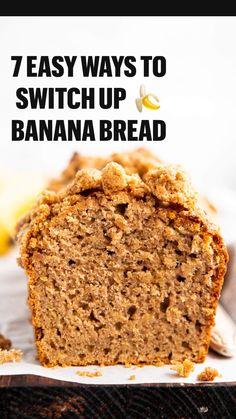 Quick Bread Recipes, Easy Baking Recipes, Banana Bread Recipes, Fruit Recipes, Irish Recipes, Sweet Recipes, Irish Desserts, Ripe Banana Recipes Healthy, Pastries