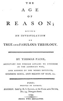 Random Book and Movie Reviews: The Age of Reason by Thomas Paine