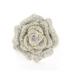 1ct Certified Diamond 9K Gold Tomas Rae Ring